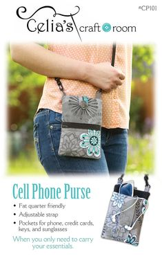 Roomy Pockets Series USA Chicago Skyline Night View Small Crossbody Bag Cell Phone Purse Wallet For Women Girls