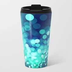 Aqua Blue Glitter Wave Metal Travel Mug on @society6 by @photography_art_decor. All product: https://society6.com/oxygen #fashion #clothing #online #shop #design #geometry #metalic #bright #shine #psychedelic #abstract #metalic #abstract #briht #pattern #trendy #stylish #fashionable #modern #awesome #amazing #clothes  #glitter #bokeh #dots #sparkling #girly #twist #swirl #psychedelic #light #aqua #blue #marine #water #sparkles #night