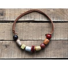 Shinju - Collier perles céramique