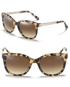 kate spade ny camel tortoise cat eye sunglasses