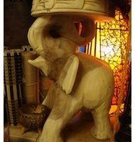 Tall Sourwood Elephant Table - £99.00  www.greedy-monkey.com - Thai Furniture