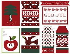 Free Printable Nordic Holiday Gift Tags