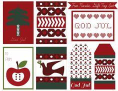 Free Printable Nordic Holiday Gift Tags