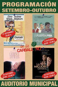 Programación Outubro Cineclube Carballiño: A puerta fría - Laurence Anyways - La mejor oferta @ Auditorio Municipal - Carballiño (Ourense) cine cinema