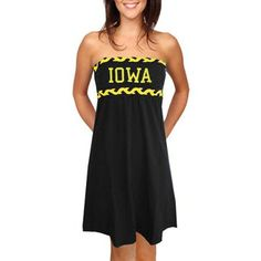 Iowa Hawkeyes Ladies Black Braided Dream Tube Dress