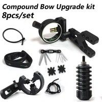Wish   UPGRADE KIT COMPOUND BOW - STABILIZER OPTIC SIGHT ARROW REST Peep String 8in1set