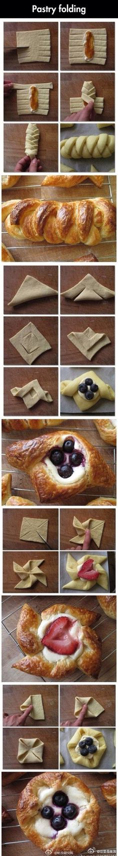 Pastry Folding: recipe ideas that look great.