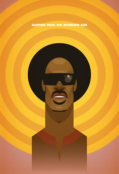 Stevie Wonder Illustration: By Stanley Chow Stevie Wonder, Jazz Club, Arte Pop, Stanley Chow, Pop Art, Blog Design Inspiration, Celebrity Caricatures, Celebrity Drawings, African American Art