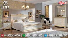 Produk Diskon Kamar Set Tempat Tidur Mewah Ivory Gold Ukir Jepara DF-1316