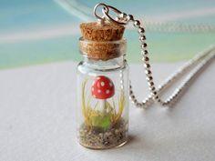 Little mushroom in a bottle