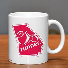 Georgia Runner Ceramic Mug - Show off your pride for Georgia with this great Georgia Runner Ceramic Coffee Mug.