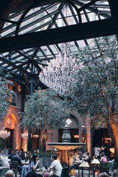 Hospitality Design | Interior Design | Nature | Public Space | Chairs | Splenour | Chic | More inspirations at https://brabbu.com/