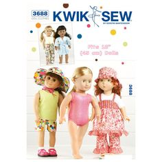 Playtime Doll Clothes-Fits 18 (45 cm) Dolls Pattern
