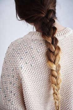 Ombre hair is one of our favorite looks right now. We love how it all comes together with this simple, long braid! This hairstyle is perfect for you ladies with brown or dark hair!