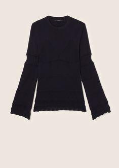 пуловер с круглым вырезом 4