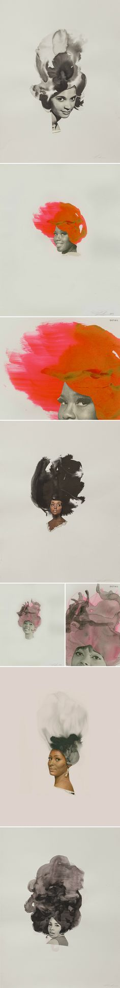 collage & ink by lorna simpson <3