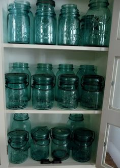 Look at all that blue Ball jar good-ness!