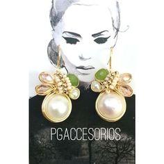⚡️⚡️PG⚡️⚡️ #pgaccesorios #chapadeoro #goldplated #aretes #earrings #accesorios #diseñomexicano #handmadejewerly #hechoamano #joyeria #losmochis #perlas #jade #jewerly #piedrasnaturales