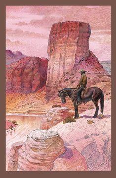 Gir (c.1980) Jean Giraud, Western Comics, Western Art, Edouard Hopper, Moebius Art, Heavy Metal Art, Ligne Claire, Animation, Sioux