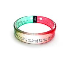The Final Battle, Harry Potter Inspired resin bangle, red and green avada kedavra, expelliarmus spell, Hogwarts, wonder if I can make