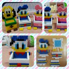 Donald Duck box perler beads by rupina99