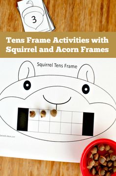 Ten Frame Activities with Squirrel and Acorn Frames - This set of activities was designed to go along with the book Scaredy Squirrel. It is includes a math counting activity.