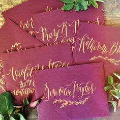 Exquisite Envelope Calligraphy by Annie Mertlich Calligraphy Envelope, Wedding Calligraphy, Modern Calligraphy, Envelope Addressing, Gift Envelope, Envelope Design, Wedding Envelopes, Wedding Stationary, Wedding Invitations