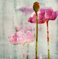 Floral Monotype Series 1/No.20 - Carol Nunan - this is beautiful!