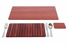 Buy Jarrah Roll-Up Table Mat   Australian Woodwork   Australian Woodwork