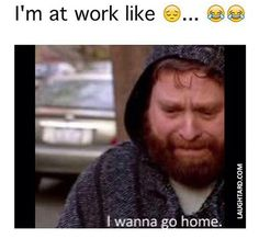 I hate being sick and being at work