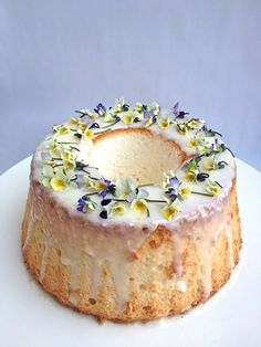 Image result for bundt cake edible flowers