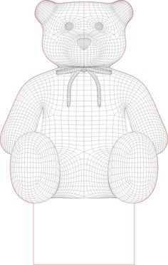 Acrile Led Teddy bear 3D illusion lamp vector file
