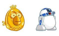 C3po and r2d2 from angry bords star wars
