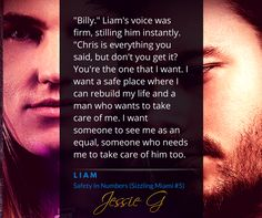 Liam knows what he wants and he knows how to get it from Billy (Poster created by KathyMac)