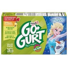 Yoplait Disney Frozen Go-Gurt Strawberry And Vanilla Kids' Yogurt Tubes - Tubes : Target Low Fat Yogurt, Frozen Yogurt, Kids Yogurt, Calcium Vitamins, On The Go Snacks, Vanilla Yogurt, Disney Frozen, Kids Meals, Strawberry