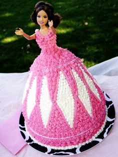 I had a cake like this for my 18th birthday party :-)    PlumbingDemons: All you need to know about Barbie Princess Cakes