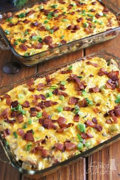 Loaded Baked Potato Casserole with Chicken for a Crowd