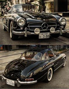 Vintage black Mercedes - stylishly cool