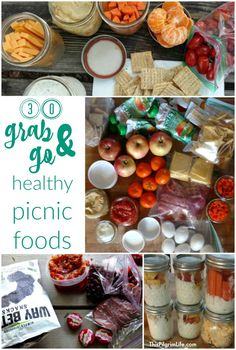 Life is Too Short to Stay Indoors: 30 Healthy Grab and Go Picnic Foods – This Pilgrim Life Pack a quick and easy picnic with these healthy grab-and-go picnic foods! Spend less time in the kitchen and more time enjoying the outdoors! Family Picnic Foods, Healthy Picnic Foods, Picnic Snacks, Picnic Dinner, Kids Picnic, Summer Picnic, Healthy Snacks, Healthy Eating, Picnic Ideas