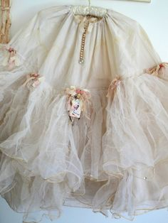 love the added details along the seam. Vintage Altered Crinoline-must do this with the ones in my collection!
