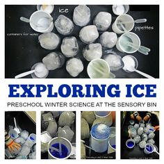 Watch what happens when you drop warm water onto ice using pipettes. Exploring ice in the sensory tab is fun! Sensory Table, Sensory Bins, Sensory Activities, Winter Activities, Preschool Activities, Sensory Play, Preschool Projects, Indoor Activities, Educational Activities