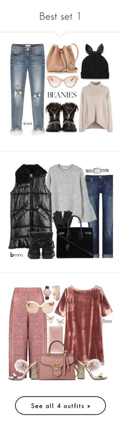 """""""Best set 1"""" by bianca1408 ❤ liked on Polyvore featuring Balmain, Kate Spade, Lancaster, Valentino, pompombeanies, DL1961 Premium Denim, MANGO, MSGM, Mulberry and Yves Saint Laurent"""