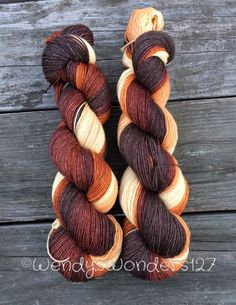 Hand dyed Yarn! This skein was hand dyed by me. Dyed in a Gradient so each color…