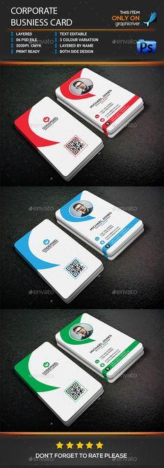 Corporate Business Card - Corporate Business Cards Downlaod here : http://graphicriver.net/item/corporate-business-card/16829338?s_rank=43&ref=Al-fatih
