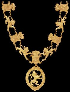 Hesse-Darmstadt's Order of the Golden Lion: Collar of the Order.