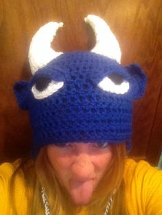 1e132ed1cf1 Duke Blue Devil crochet hat Size newborn-3yrs.  20 Size 3yrs.- teen
