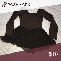 Black girls leotard All black long sleeve leotard size 4/6 Costumes Dance