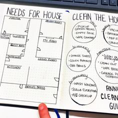 Try these house cleaning schedule spreads for your bullet journal and start cleaning your house. Simple yet holds you accountable. Bullet Journal Cleaning Schedule, Monthly Cleaning Schedule, Weekly Cleaning, Cleaning Checklist, Clean My House, Clean House Schedule, Bullet Journal Spread, Bullet Journal Ideas Pages, Bullet Journals