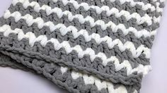 Trendy Crochet Baby Blanket + Tutorial  * DAC's Designs - Deb Christensen Like This Page · February 4  (facebook page)*·  She used 3 colors so was able to carry up the sides.
