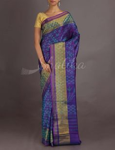 Darshana Royal Purple Contemporary Design #IkatPatolaSilkSaree